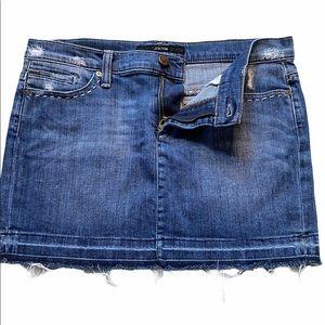 Joe's Jeans raw hem distressed denim mini skirt 27